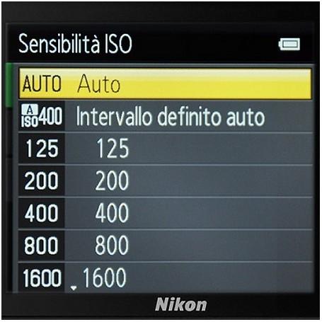 SENSIBILITA' ISO